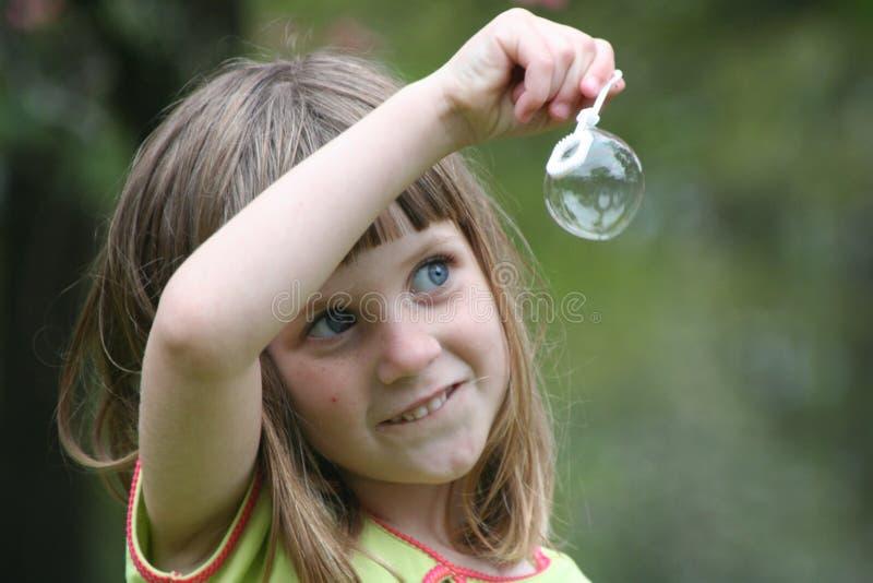 flicka för 2 bubbla royaltyfri bild