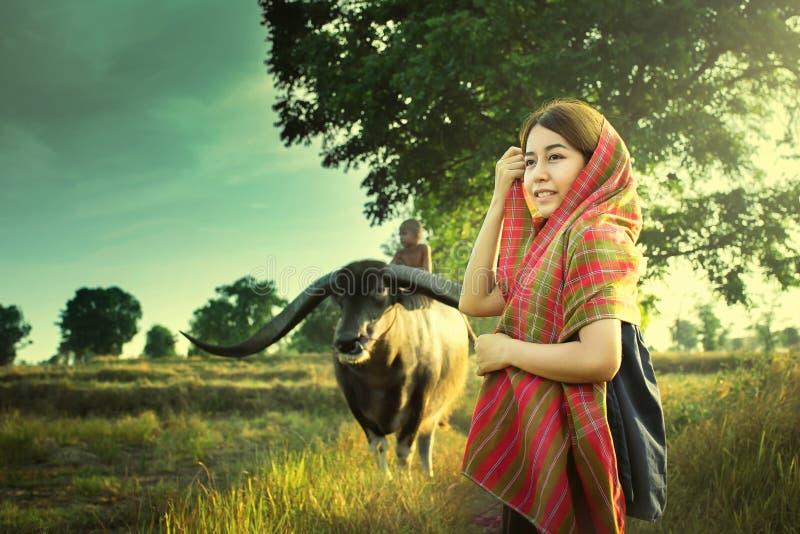 Flicka för asiatiskt land arkivbilder
