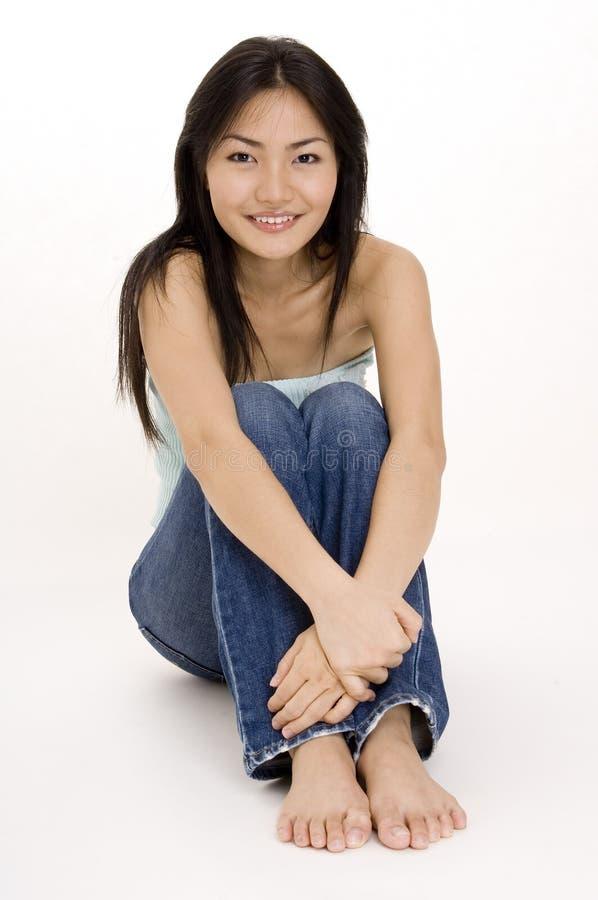 flicka för kines 10 royaltyfri bild