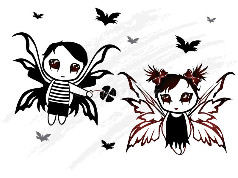 flicka för pojkedesignfe royaltyfri illustrationer