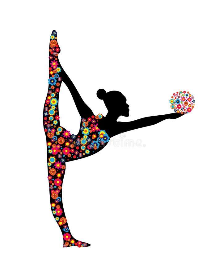 Flicka för rytmisk gymnastik arkivfoton