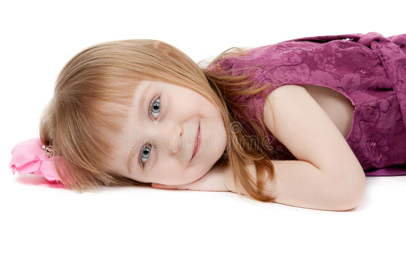 flicka fyra little gammala ståendeår royaltyfri fotografi
