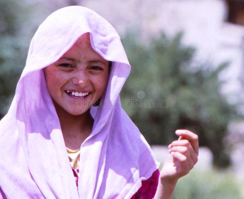 Flicka i Ladakh, Indien royaltyfria foton