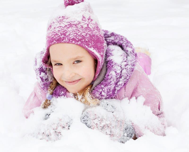 Flicka i vinter royaltyfri fotografi