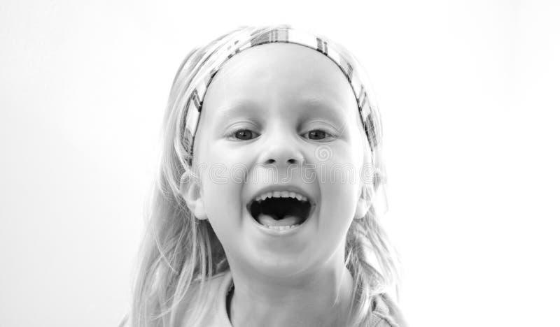flicka little arkivfoton