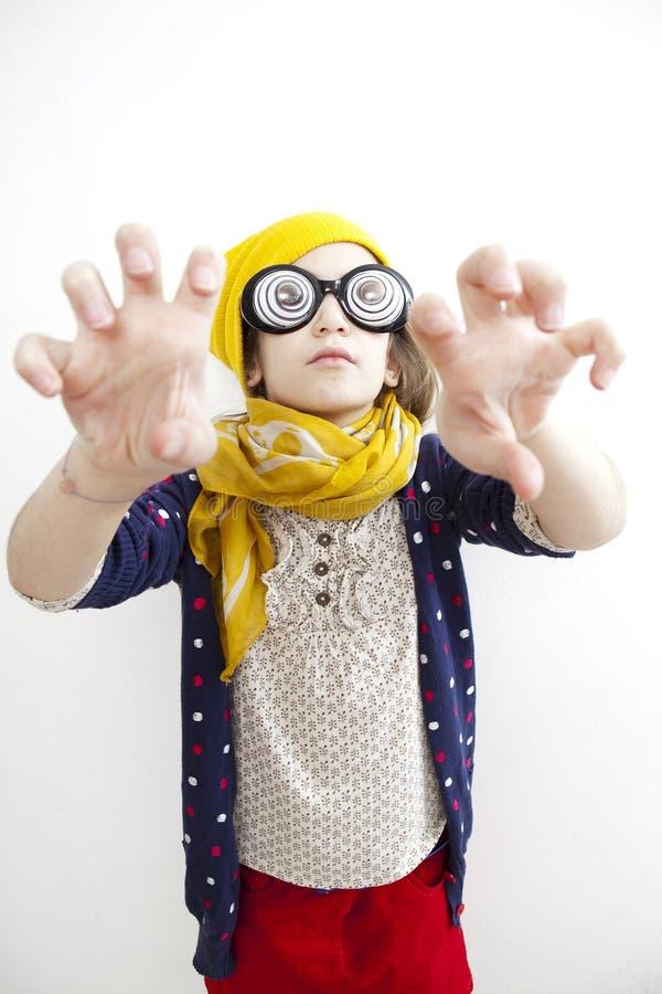 flicka little gammal dumbom tio år fotografering för bildbyråer