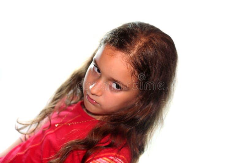 flicka little rubbning royaltyfri fotografi