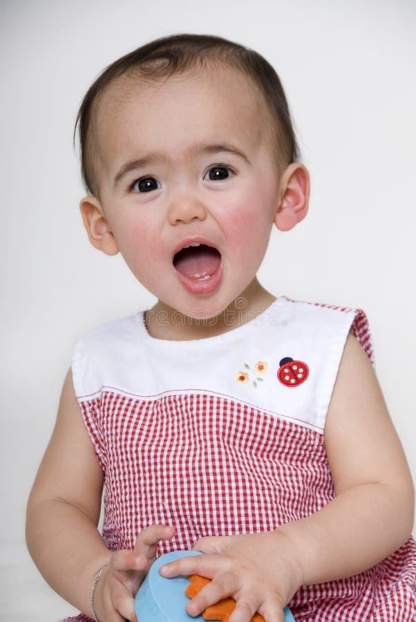 flicka little sötsak royaltyfri bild