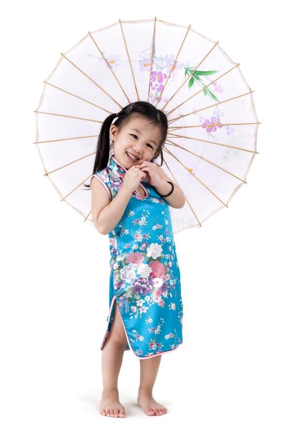 flicka little som är orientalisk royaltyfria bilder