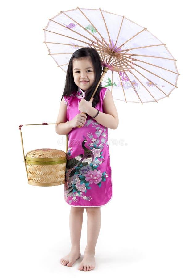 flicka little som är orientalisk fotografering för bildbyråer