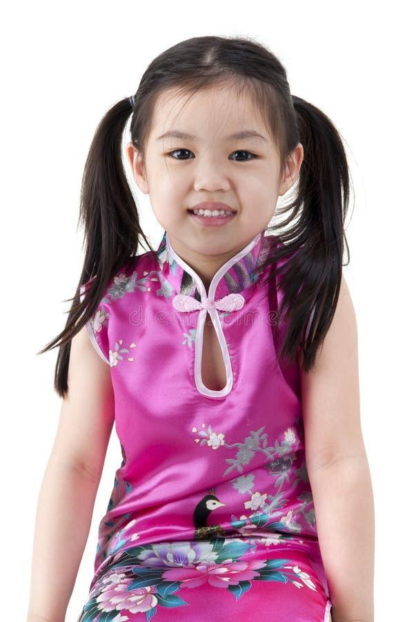 flicka little som är orientalisk arkivbild