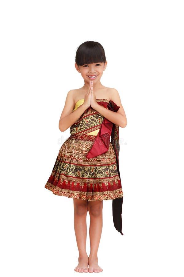 flicka little som är thai arkivfoton