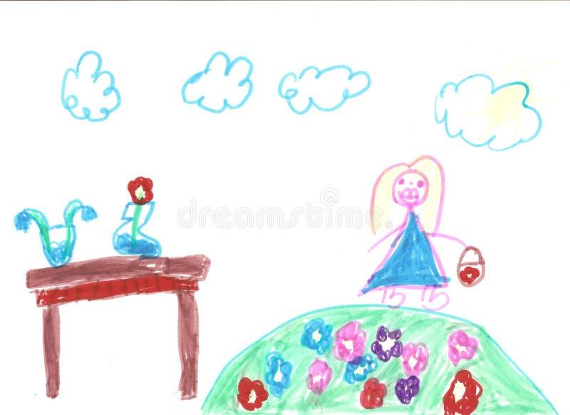 flicka little som leker royaltyfri foto