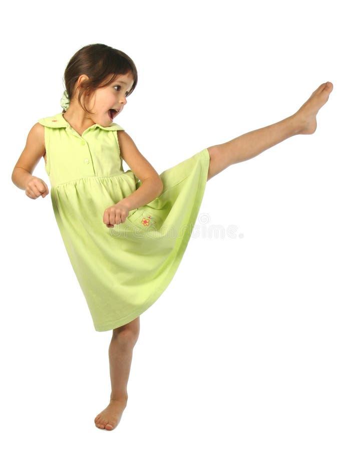 flicka little som skriker arkivbild