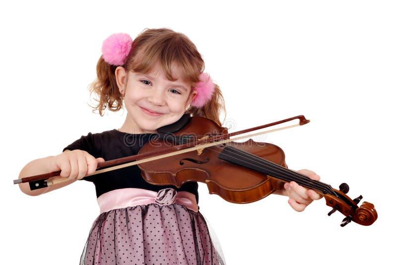 flicka little spelrumfiol fotografering för bildbyråer