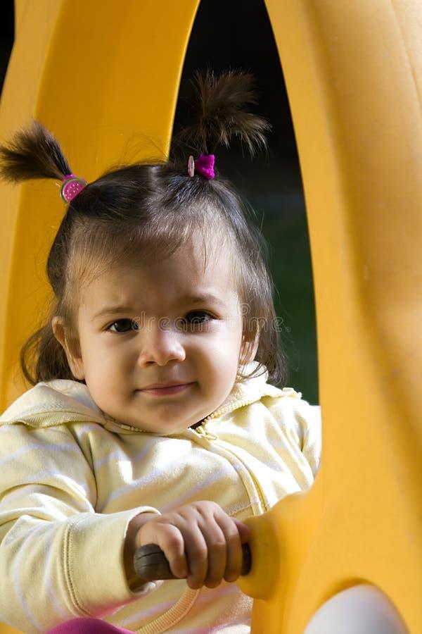 flicka little swing arkivbilder