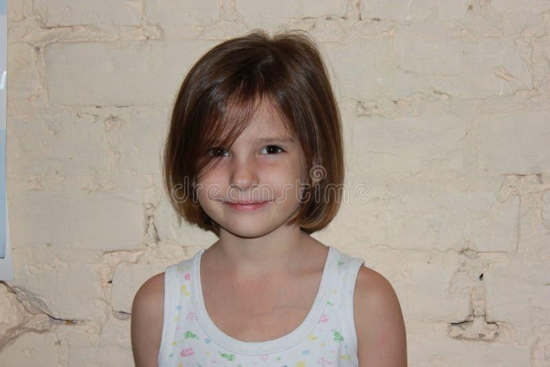 Flicka med hår arkivfoton