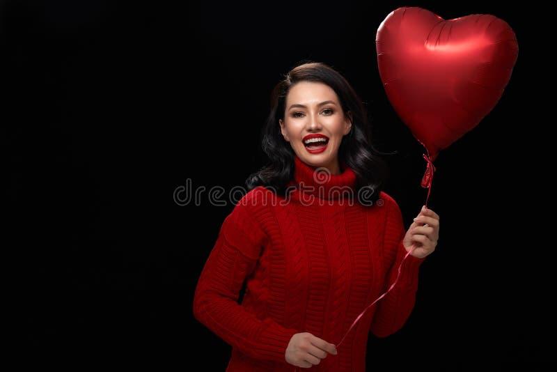 Flicka på valentin dag royaltyfria foton
