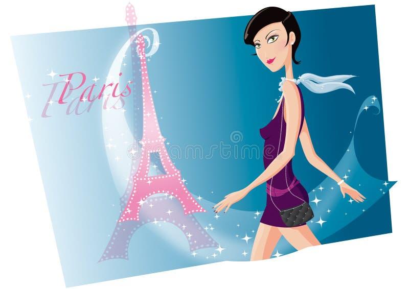 Flicka Paris Royaltyfri Fotografi