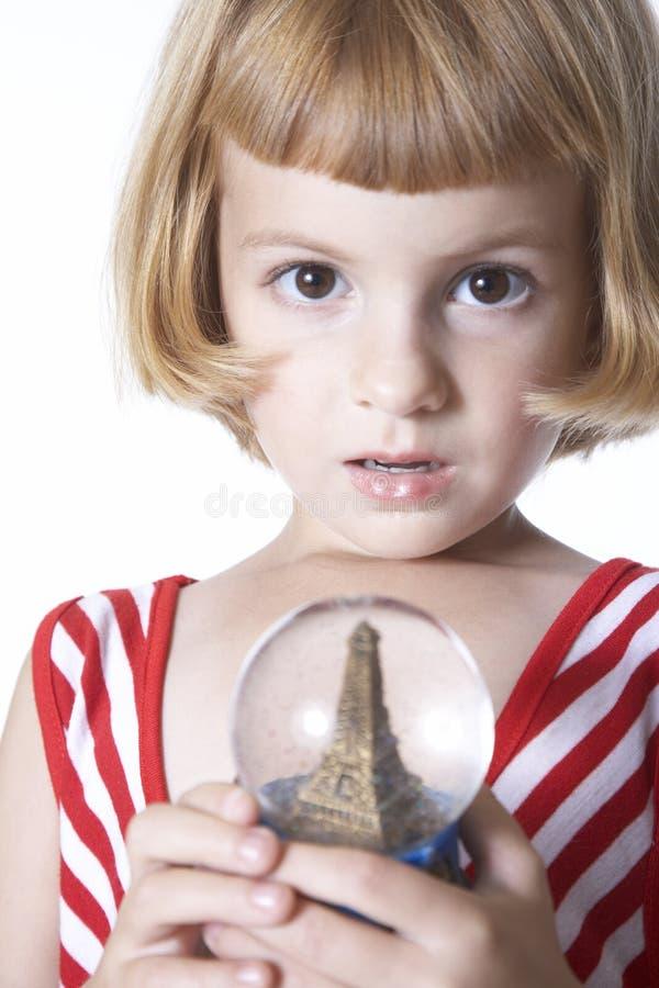 flicka paris fotografering för bildbyråer