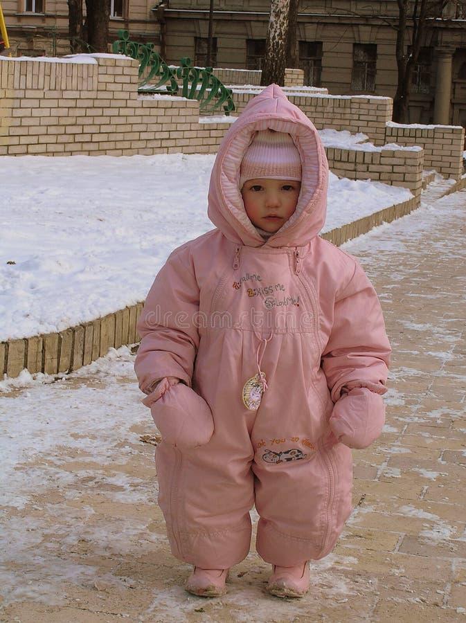 Flicka - rosa ängel royaltyfri fotografi