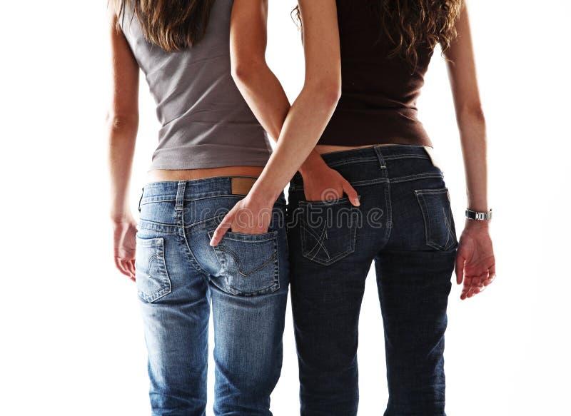 flicka sexiga två arkivbilder