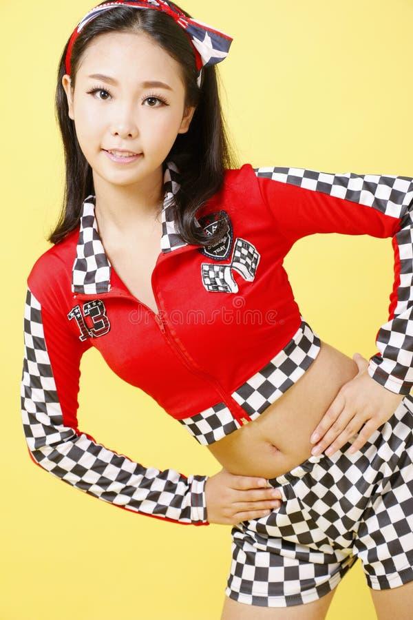 Flicka som bär en sportswear arkivfoton