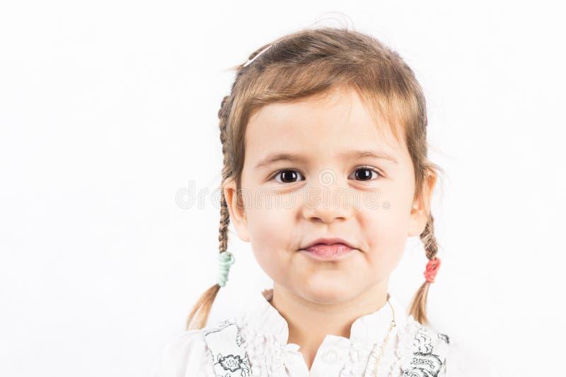 flicka som isoleras little som är vit royaltyfri foto