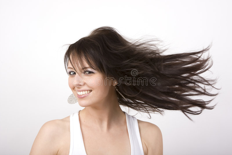 flicka twirly royaltyfria foton