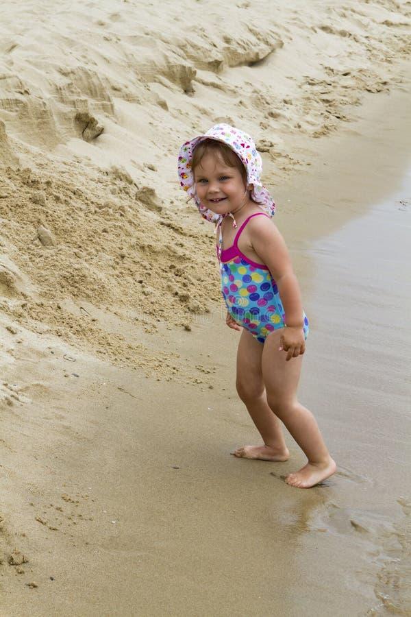Flickaanseende i havsvattnet arkivbilder