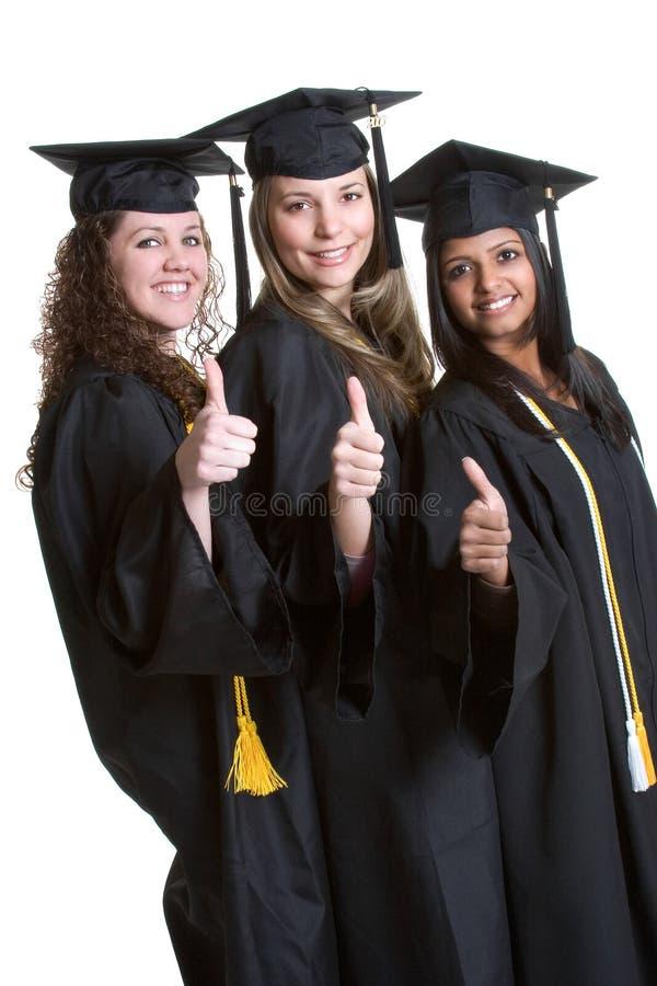 flickaavläggande av examen royaltyfri foto