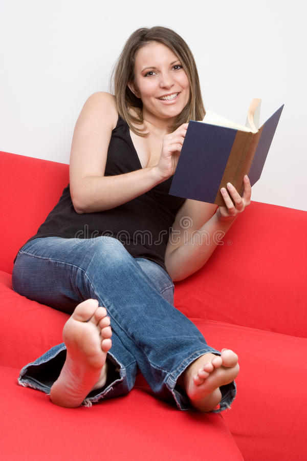 flickaavläsning royaltyfri bild