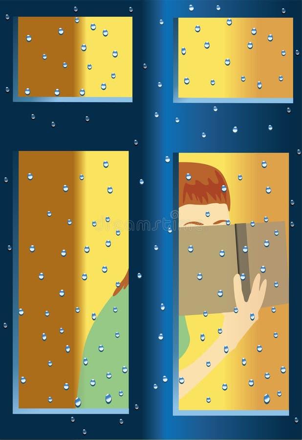 flickaavläsning stock illustrationer