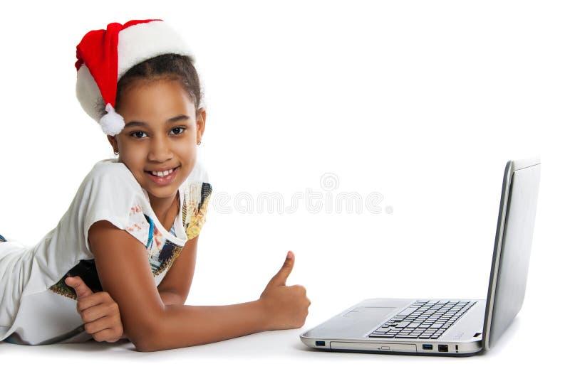 flickabärbar dator royaltyfria bilder