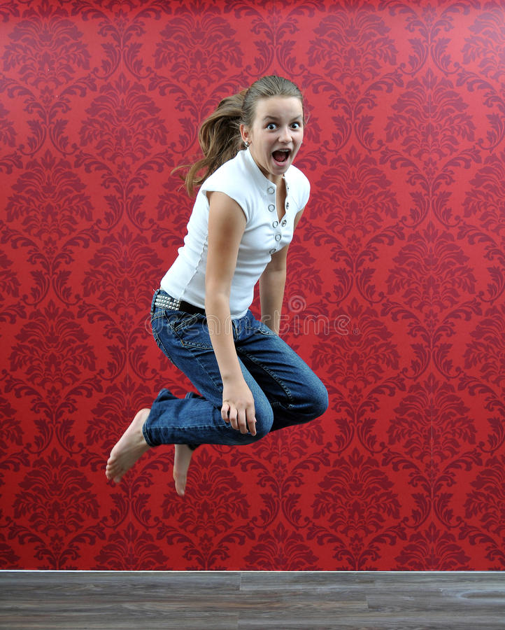 flickabanhoppning arkivfoto