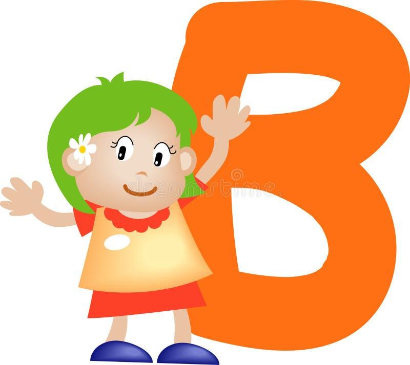 flickabokstav för alfabet b stock illustrationer