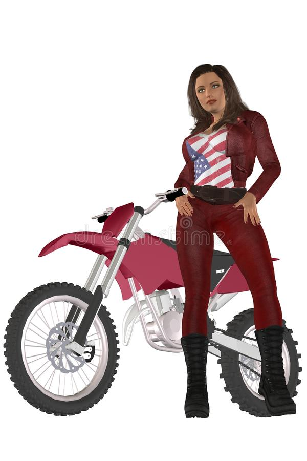 Flickacyklist stock illustrationer