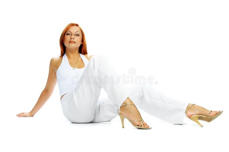 flickadräkt royaltyfri bild