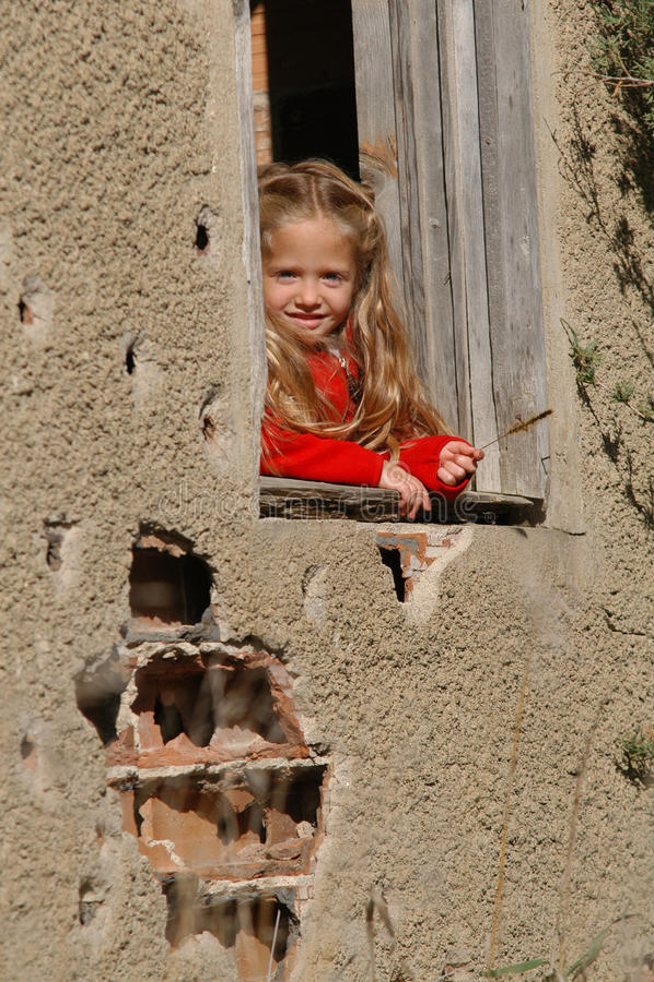 flickafönster arkivbild
