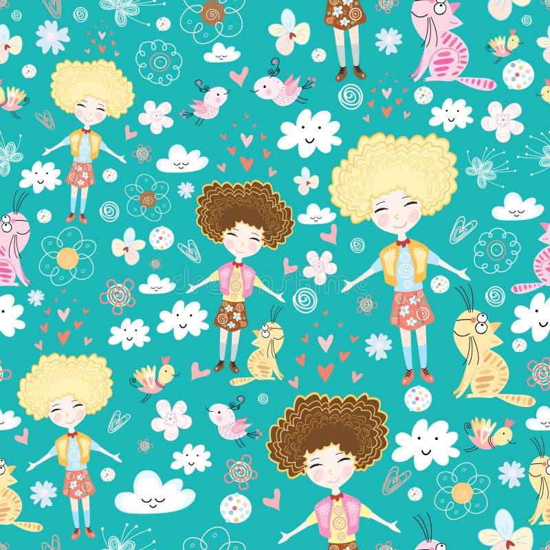 flickaförälskelsetextur vektor illustrationer