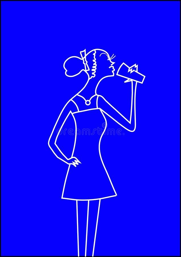 flickaglamour vektor illustrationer