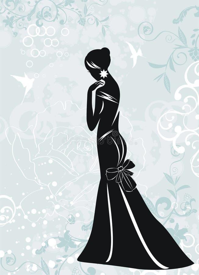 flickaglamour royaltyfri illustrationer
