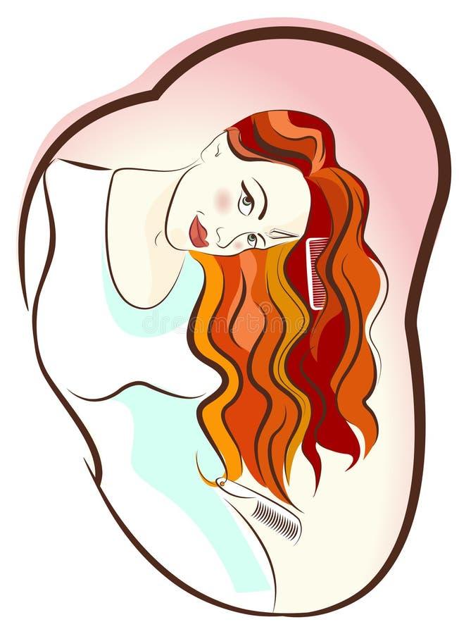 flickahårvektor stock illustrationer