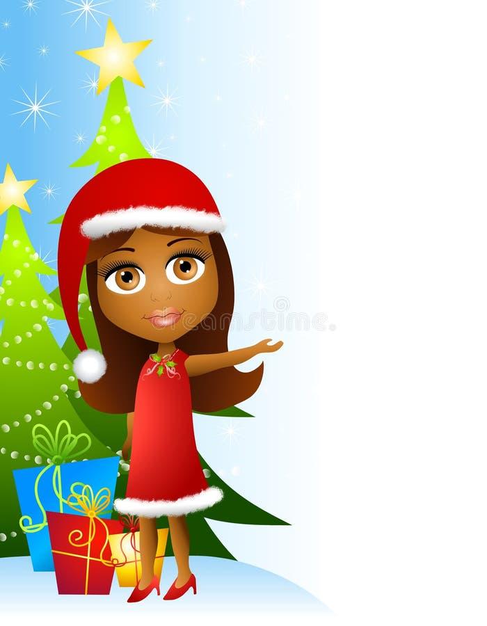 flickahjälpreda för 2 jul little vektor illustrationer