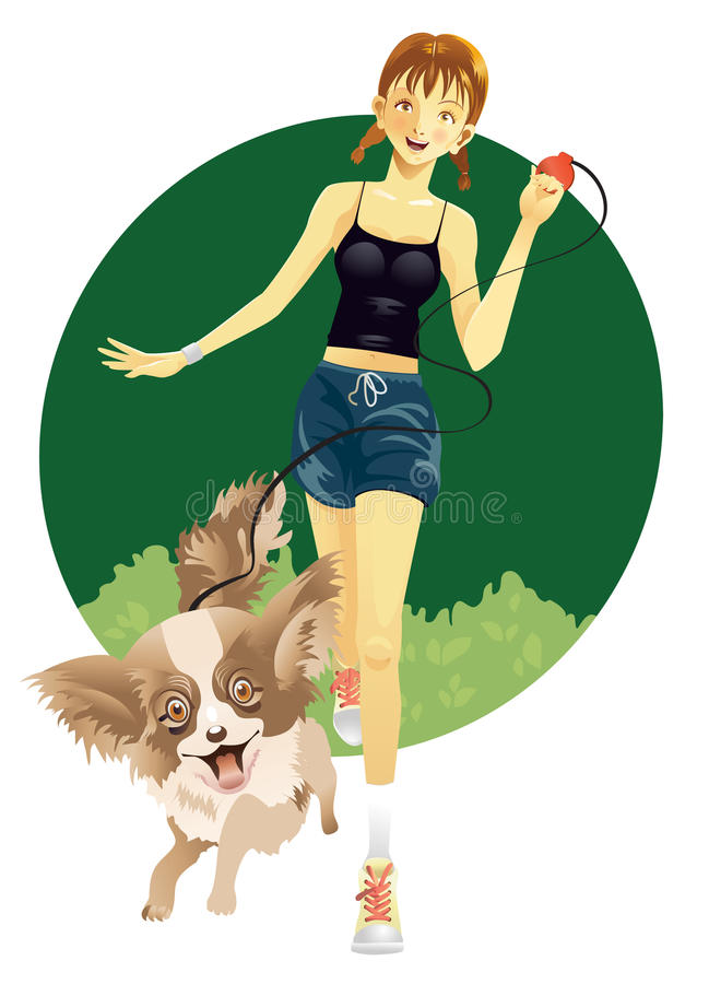 flickahusdjur stock illustrationer