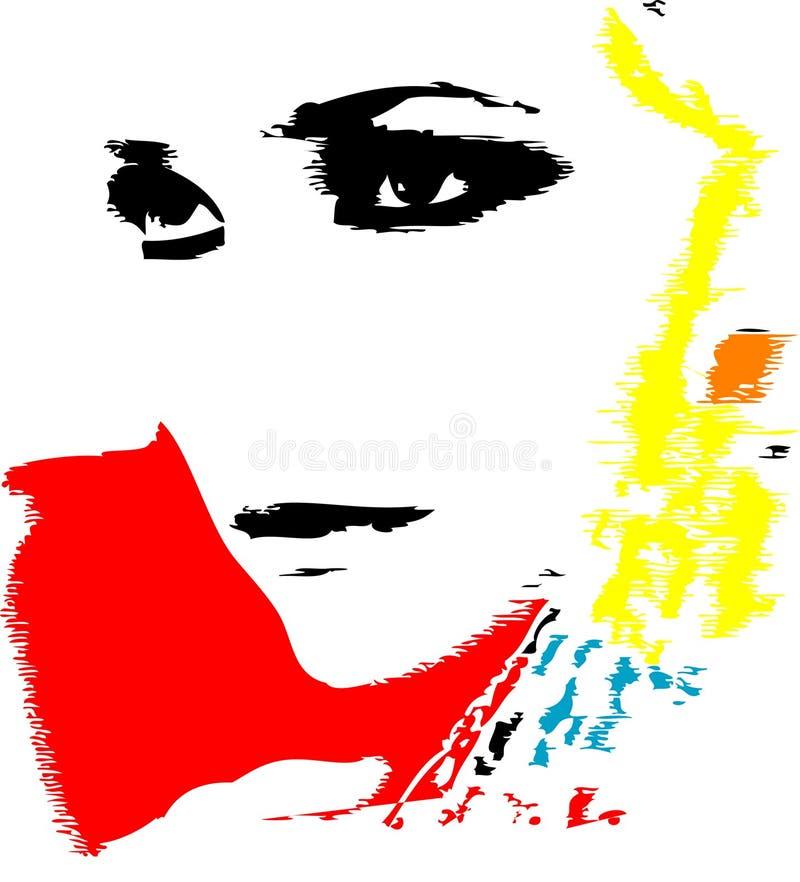 flickaillustrationförälskelse royaltyfri illustrationer