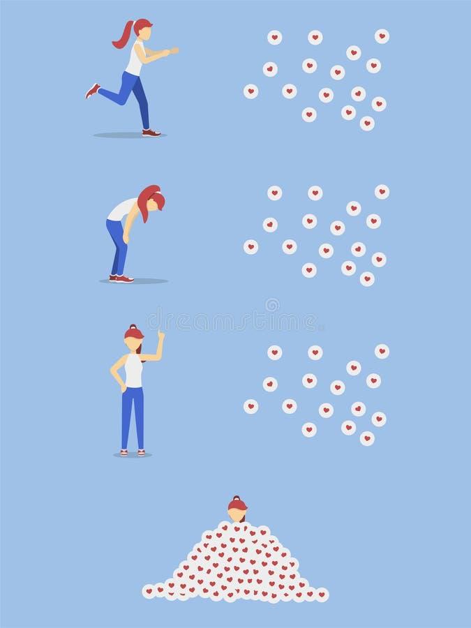 Flickakörning för något liknande många något liknande vektor illustrationer