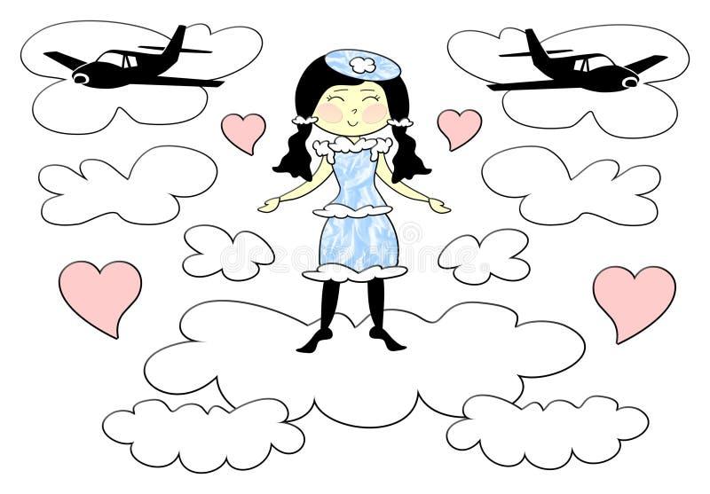 flickalopp royaltyfri illustrationer