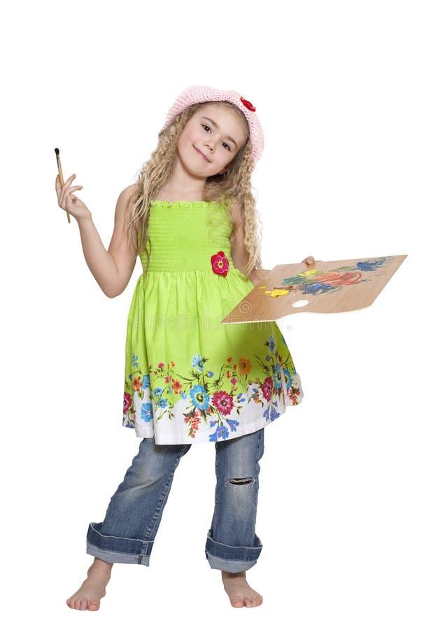 flickamålare arkivbild