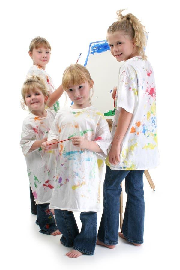 flickamålning för staffli fyra arkivbild